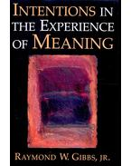Intentions in the Experience of Meaning - GIBBS, RAYMOND W,