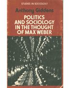 Politics and Sociology in the Thought of May Weber - Giddens, Anthony