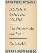 Von deutscher Art und Kunst - Goethe, Herder, Johann Gottfried, Justus Möser