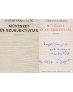 Művészet és szubjektivitás (dedikált) - Gyertyán Ervin