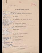 """Jékely Zoltán (1913–1982) költő, műfordító H. Carey Thomas libériai költő """"A tam-tam dobok többé nem dobolnak"""" című verse műfordításának két gépelt oldal terjedelmű, eredeti kézirata - H. Carey Thomas, Jékely Zoltán"""
