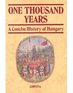 One Thousand Years - Hanák Péter