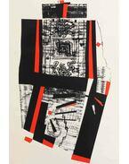 Kompozíció vörösben és feketében - Hincz Gyula