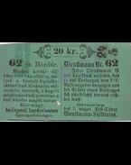 Hordár biztosítási bárca 20 korona értékben