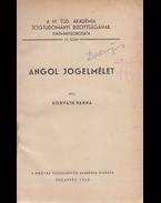 Angol jogelmélet. - Horváth Barna