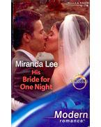 His Bride for One Night - Lee, Miranda