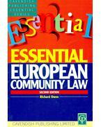 Essential European community Law - OWEN, RICHARD