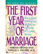 The First Year of Marriage - AROND, MIRIAM - PAUKER, SAMUEL L.