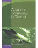 Advanced Vocabulary in Context with Key - WATSON, DONALD