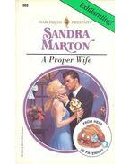 A Proper Wife - Marton, Sandra