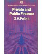 Private and Public Finance - PETERS, G.H.