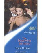 The Deserving Mistress - Mortimer, Carole