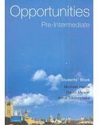 Opportunities Pre-Intermediate – Student's Book - HARRIS, MICHAEL – MOWER, DAVID – SIKORZYNSKA, ANNA