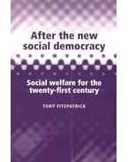 After the New Social Democracy – Social Welfare for the Twenty-First Century - FITZPATRICK, TONY