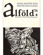 Alföld 1974/4. - Kovács Kálmán