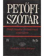 Petőfi-szótár IV. - J. Soltész Katalin, Wacha Imre, Szabó Dénes
