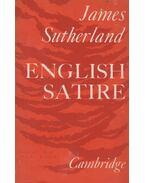 English Satire - James Sutherland