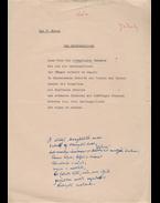 Jékely Zoltán (1913–1982) költő, műfordító nyugat-afrikai lírafordításának eredeti kézirata - Jékely Zoltán
