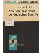Abriss der Geschichte der deutschen Sprache - Joachim Schildt