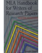 MLA Handbook for Writers of Research Papers - Joseph Gibaldi