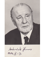 Kádár János (1912–1989) első titkár aláírt portrékártyája (1986) - Kádár János