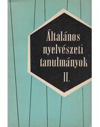Általános nyelvészeti tanulmányok II. - Kalmár László, Telegdi Zsigmond