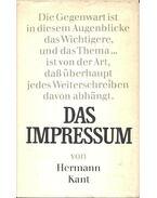 Das Impressum - Kant, Hermann