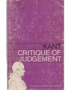 Critique of Judgement - Kant, Immanuel