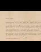 Kányádi Sándor (1929–2018) költő egy gépelt oldal terjedelmű, derűs hangvételű levele Belia György (1923–1982) szerkesztőnek, a levél végén a költő saját kezű aláírásával. - Kányádi Sándor