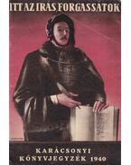 Karácsonyi Könyvjegyzék 1940