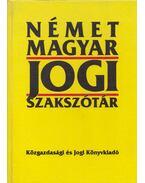 Német-magyar jogi szakszótár - Karcsay Sándor
