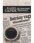 Egy tisztes polgár meghurcoltatása és más történetek a média természetéről - Karel Capek