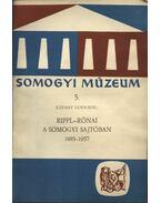Rippl-Rónai a somogyi sajtóban 1885-1957 - Kávássy Sándorné