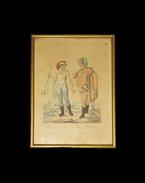 Két falún-lakozó Nemes ember. Zwei Edelleute vom Lande. Kézzel színezett rézmetszet. Bikkessy Heinbucher József (1767–1833) festő rajza után metszette Blaschke és Ponheimer. Készült 1816-ban. - Bikkessy Heinbucher József, Karl Beyer
