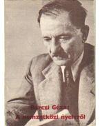 A nemzetközi nyelvről - Bárczi Géza
