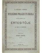 A Szeged Városi Nyilvános Polgári Fi-Iskola nyolcadik évi értesítője az 1880-81. tanévről - Nagy János