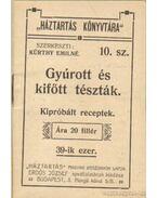 Gyúrott és kifőtt tészták (mini) - Kürthy Emilné (szerk.)