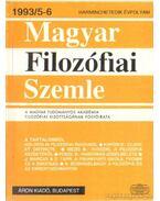 Magyar Filozófiai Szemle 1993/5-6. - Több szerkesztő