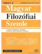 Magyar filozófiai szemle 1993/1-2. - Több szerkesztő
