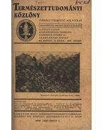 Természettudomány 1930 - Gombocz Endre, Szabó-Patay József