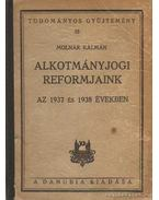 Alkotmányjogi reformjaink - Molnár Kálmán