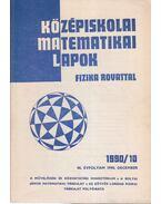 Középiskolai matematikai lapok 1990/10. december - Hermann Péter, Lugosi Erzsébet (szerkesztő), Gajzágó Éva