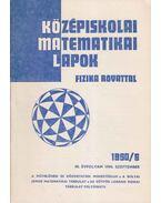 Középiskolai matematikai lapok 1990/6. szeptember - Hermann Péter, Fried Ervinné (szerkesztő), Lugosi Erzsébet (szerkesztő)