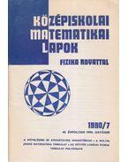 Középiskolai matematikai lapok 1990/7. október - Hermann Péter, Fried Ervinné (szerkesztő), Lugosi Erzsébet (szerkesztő)