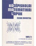 Középiskolai matematikai lapok 1991/1. január - Hermann Péter, Lugosi Erzsébet (szerkesztő), Gajzágó Éva