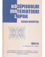 Középiskolai matematikai lapok 1991/4. április - Hermann Péter, Lugosi Erzsébet (szerkesztő), Gajzágó Éva