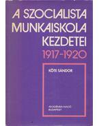 A szocialista munkaiskola kezdetei 1917-1920 - Köte Sándor