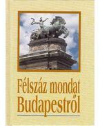 Félszáz mondat Budapestről - Köves József