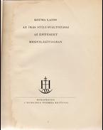 Az írás stílusváltozásai az építészet megvilágításában (Számozott) - Kozma Lajos