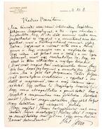 Lechner Jenő építész saját kézzel írt levele barátjához (1913) - Lechner Jenő